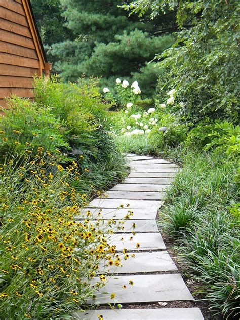 Backyard Path by Pictures Of Garden Pathways And Walkways Diy Shed