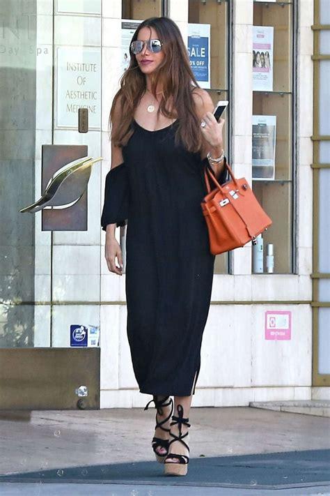 Shofiya Lucia Dress sofia vergara in black dress out in beverly