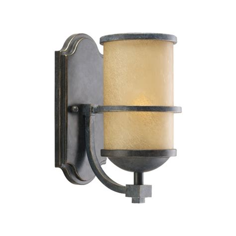 Nautical Wall Sconce Nautical Wall Sconce With Beige Glass In Flemish Bronze Finish 44520 845 Destination
