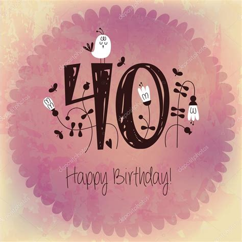 imagenes vintage feliz cumple invitaci 243 n tarjeta vintage feliz cumplea 241 os n 250 mero 40