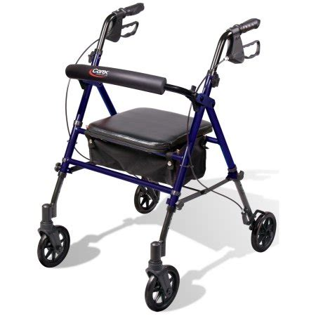 rolling walker with seat walmart carex step n rest rolling walker rollator with padded