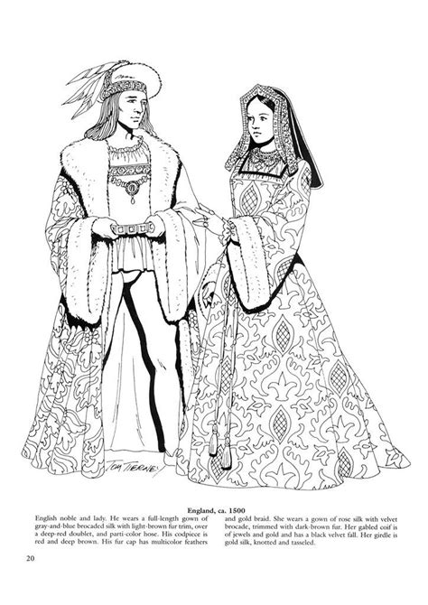 printable coloring pages renaissance renaissance fashions 21 costumes for couples pinterest
