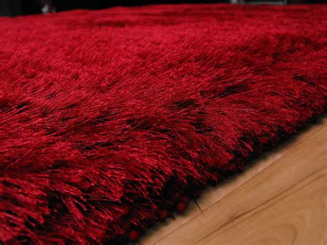 6 X 9 Shag Rug Plush Red Shaggy Rug Plush Red Shaggy Rug 163 117 00