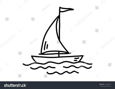 boat drawing pic sailboat drawing stock vector illustration 133964522
