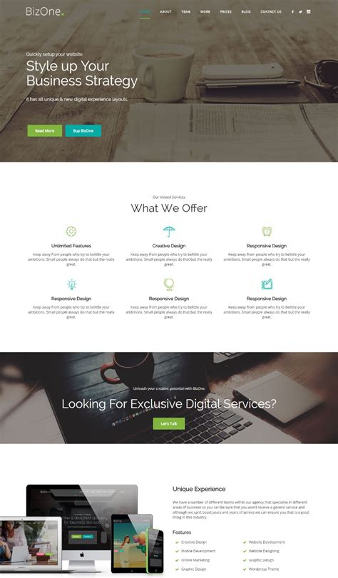 page website templates  responsive designs