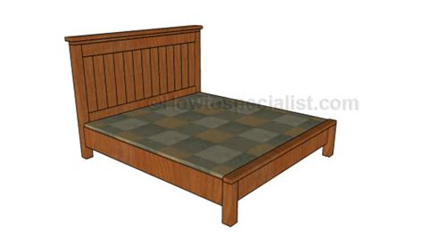 farmhouse bed frame plans farmhouse bed plans howtospecialist how to build step