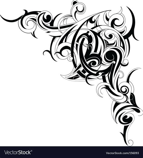 tribal tattoo vectorial tribal accent vector royalty free stock vector