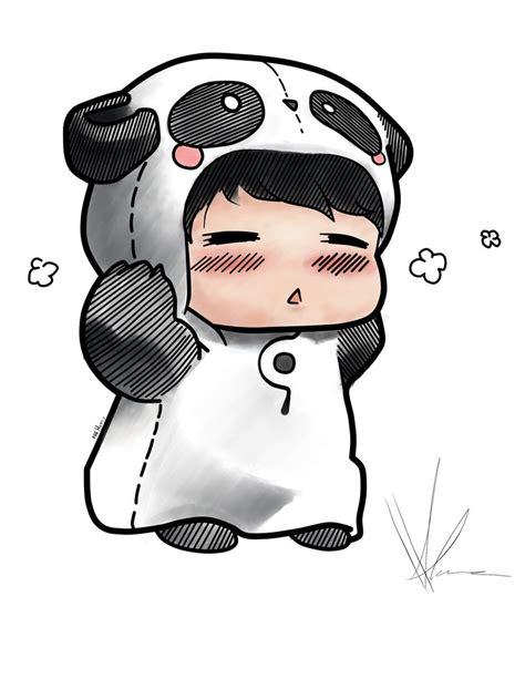 chibi panda wallpaper