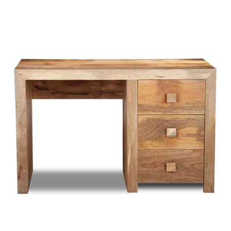 scrivania legno naturale scrivania etnica legno naturale 3 cass 110x50h78 scrivanie