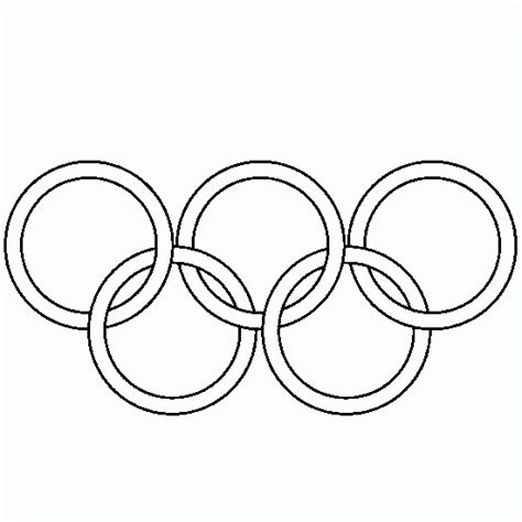 olympic rings free colouring pages