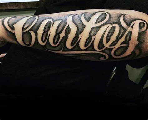 tattoo fonts space 40 forearm name tattoos for manly design ideas