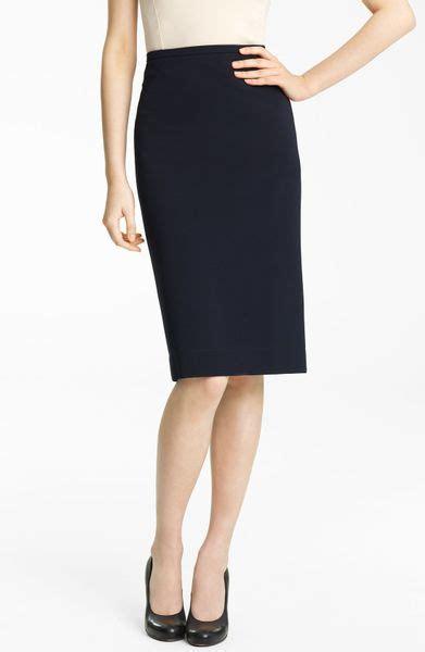 lida baday pencil skirt in blue navy lyst