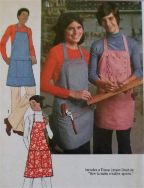 easy simplicity apron pattern easy simplicity 7254 pattern unisex apron in 2 lengths