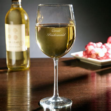 personalized white wine glass oz