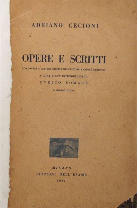 cassa risp firenze adriano cecioni opere e scritti ed dell esame 1932