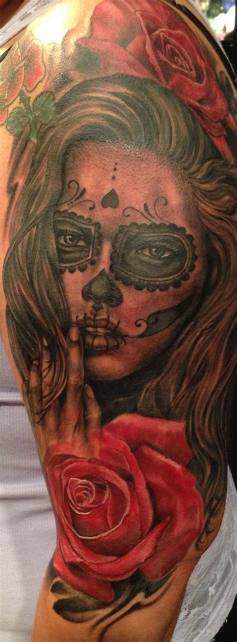 hamilton tattoo day of the dead by joey hamilton day of the dead