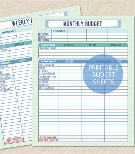 10 Weekly Budget Templates Free Sle Exle Format Download Free Premium Templates Weekly Budget Template Sheets