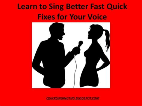 learn to sing better arn to sing better fast with 5 fixes for your voice tips