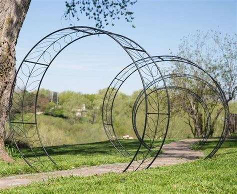 Garden Arch Circle Metal Tunnel Garden Arbor Circular Vine Trellis