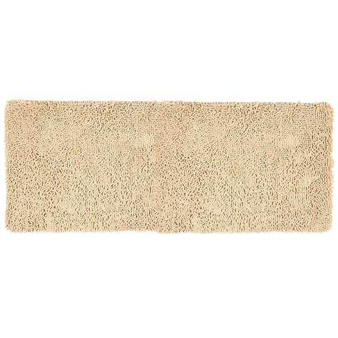memory foam shag rug lavish home shag ivory 24 in x 60 in memory foam bath mat 67 19 i the home depot