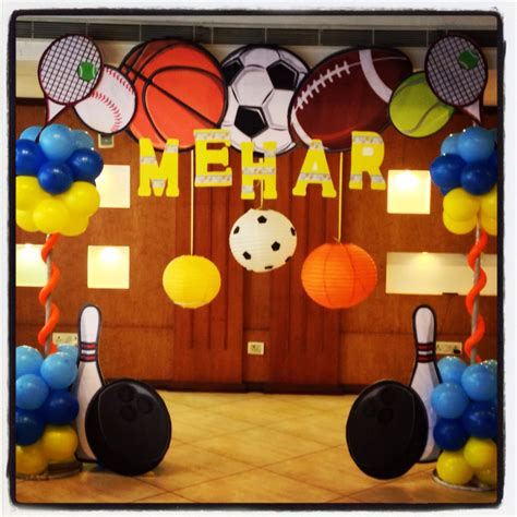 sports themed birthday decorations sports theme party hosting happinez pinterest sport