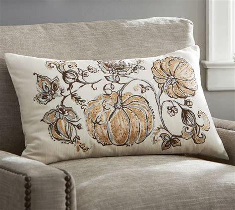Pottery Barn Pumpkin Pillow by Gilded Pumpkin Palore Lumbar Pillow Cover Pottery Barn
