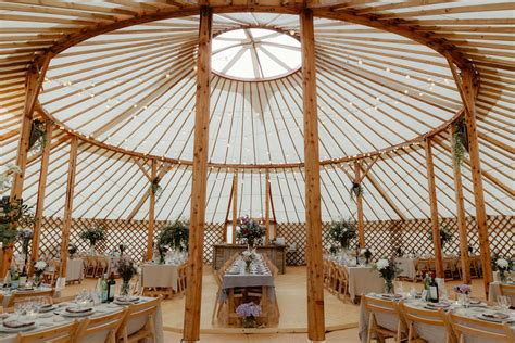 Wedding Yurt by Yurt Wedding In The Countryside
