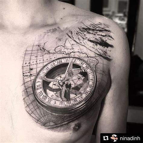 tattoo compass mit karte 92 besten tattoo bilder auf pinterest 196 rmelt 228 towierungen