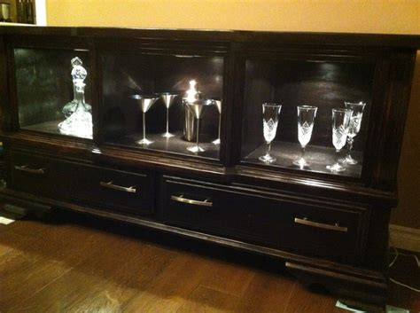 Dresser Turned Into Bar by Turned A Dresser Into A Bar Unit Husband Likes