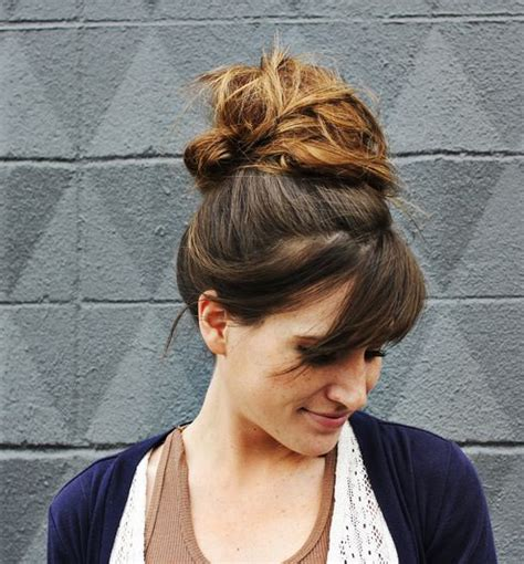 how to comb a bun with side swept bangs most beautiful high bun with side swept bangs 2015 full dose