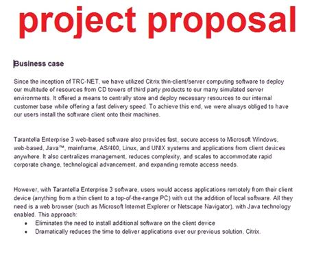 writing proposals template exles of business project proposals images