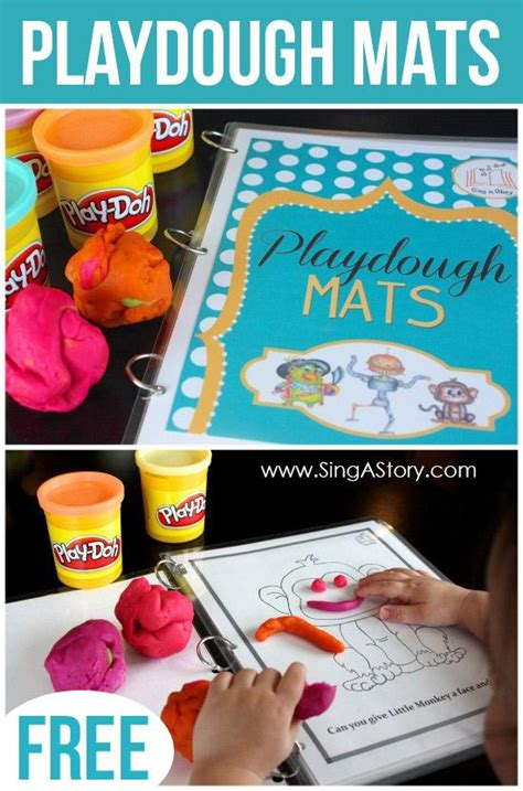 free printable christmas playdough mats play dough play dough mats and plays on pinterest