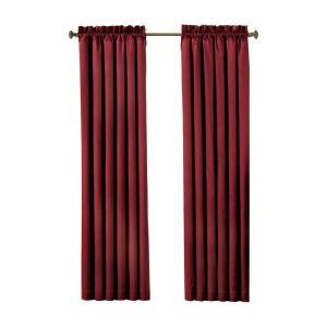 blackout curtains home depot eclipse canova blackout 63 in l polyester curtain panel in burgundy 10299042x063bu the home depot