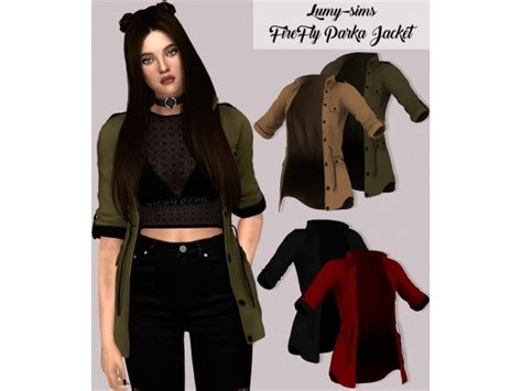 Jaket Sweater Costum Kakashi Black firefly parka jacket the sims 4 simsdom