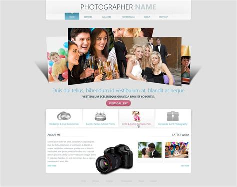 Photographer Website Template Free Photography Web Templates Phpjabbers Free Photography Website Templates For Photographers