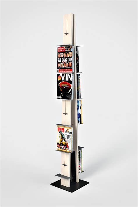 post wall mounted display rack brochure magazine