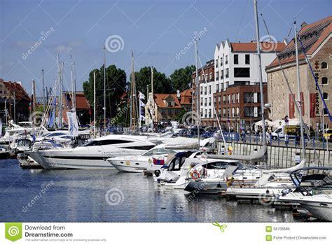 boten uit polen jachthaven van gdansk in polen redactionele foto