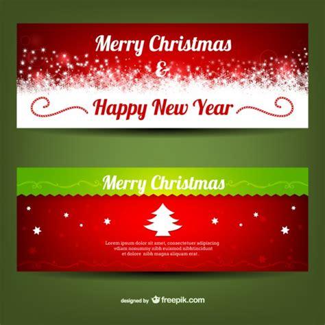 merry christmas banner templates vector