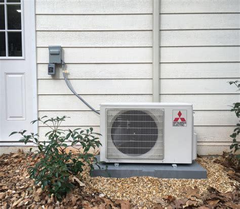 mitsubishi mini split air conditioners garage workshop build installing a mini split ductless