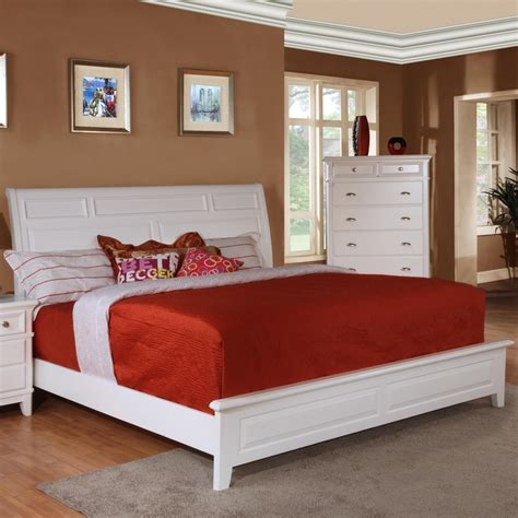 white sleigh bed queen simply white queen sleigh bed by lifestyle b1111