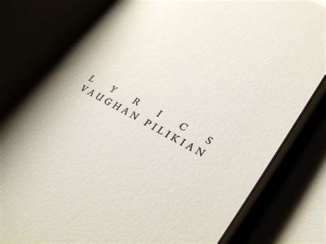 picture book lyrics letterpress printed lyrics book for vaughan pilikian