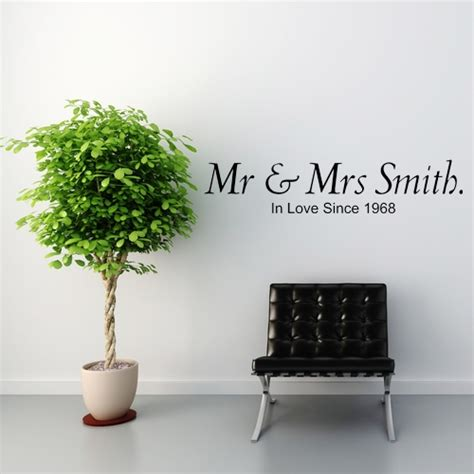 mr mrs wall sticker decals