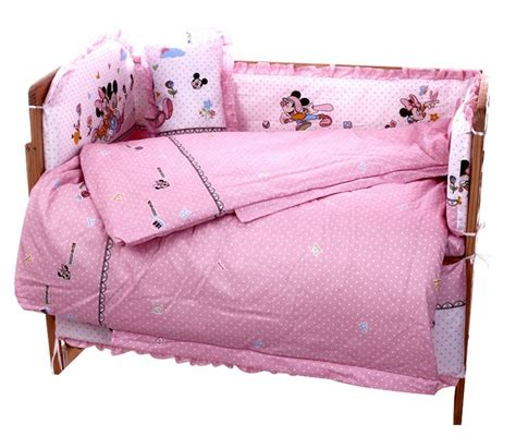 Mickey Mouse Cot Bumper Bedding Sets Promotion 10pcs Mickey Mouse Baby Cot Crib Bedding Set Bumpers Sheet Bumper Matress Pillow Duvet