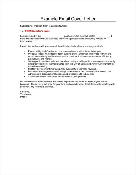 Cover Letter When Sending cover letter sle for sending resume cover letter