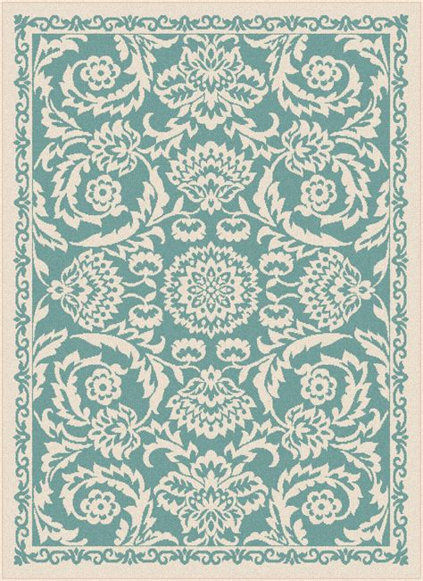 Aqua Outdoor Rug Garden City By Tayse Indoor Outdoor Area Rug Basile Gct1013 Aqua