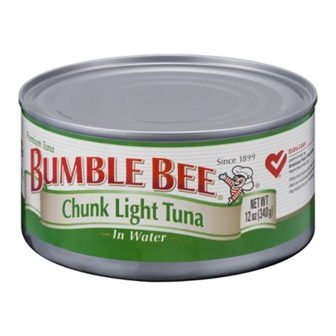 what is chunk light tuna bumble bee chunk light tuna in water can 12 oz