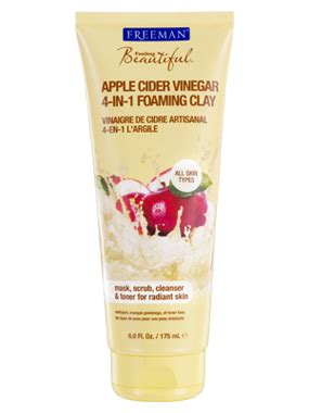 freeman introduces apple cider vinegar foaming clay