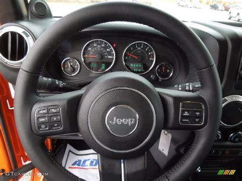Jeep Wrangler Steering Wheel 2013 Jeep Wrangler Unlimited Rubicon 4x4 Steering Wheel