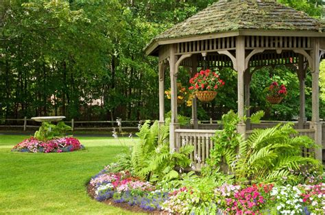 life short landscaping ideas around gazebos