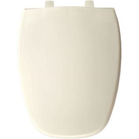 bemis elongated closed front toilet seat in biscuit 124